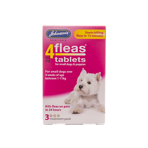 4Fleas Tablets for Puppies & Small Dogs 3 tablets