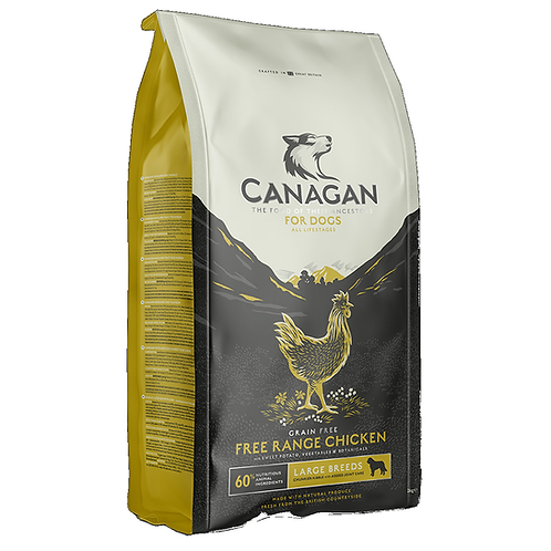 Canagan Large Breed Free Range Chicken for all lifestages. 2kg, 12kg. Price from