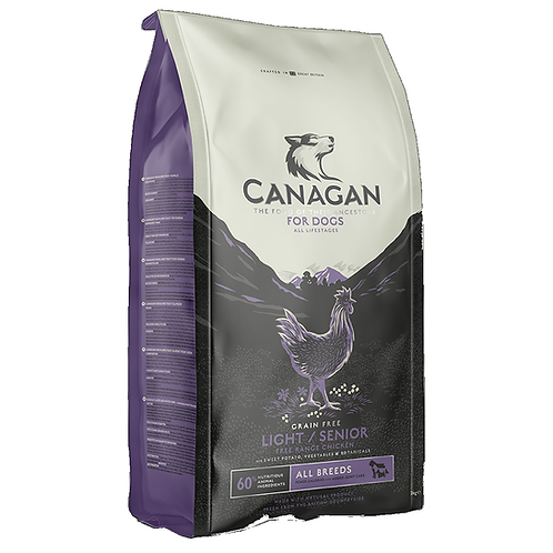 Canagan Light/Senior Free Range Chicken 2kg, 6kg, 12kg. Price From