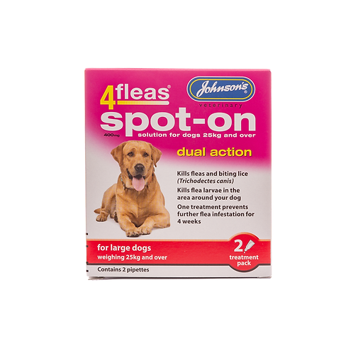 4fleas Spot-on for large Dogs over 25kg