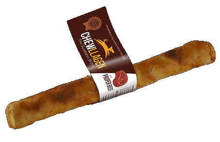 "Chewllagen Retriever Roll 10"" Beef, Chicken"