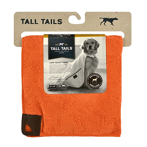 Tall Tails Cape Towel Orange Large 68.5cm