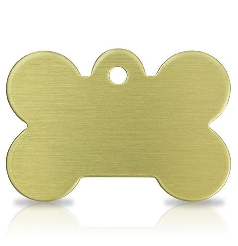 Large Brass Bone Engraved ID Tag