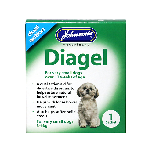 Johnson's Diagel For Very Small Dogs. 1 x 10g Sachet
