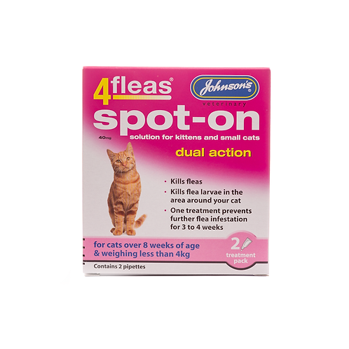 4fleas Spot-on for Cats & Kittens up to 4kg