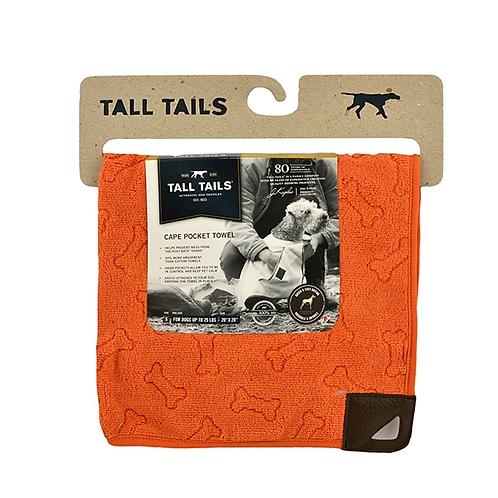 Tall Tails Cape Towel Orange Small 50cm