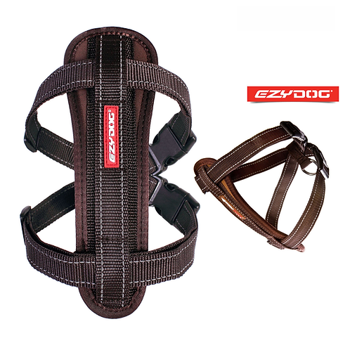 EzyDog Chest Plate Harness Chocolate. Price from