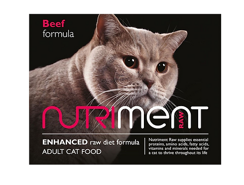 Nutriment Raw Cat Food Beef 500g