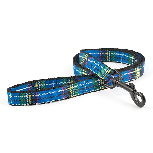 FASHION LEAD BLUE Tartan 1m x19mm