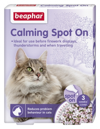 Calming Spot On for Cats. 3 pk