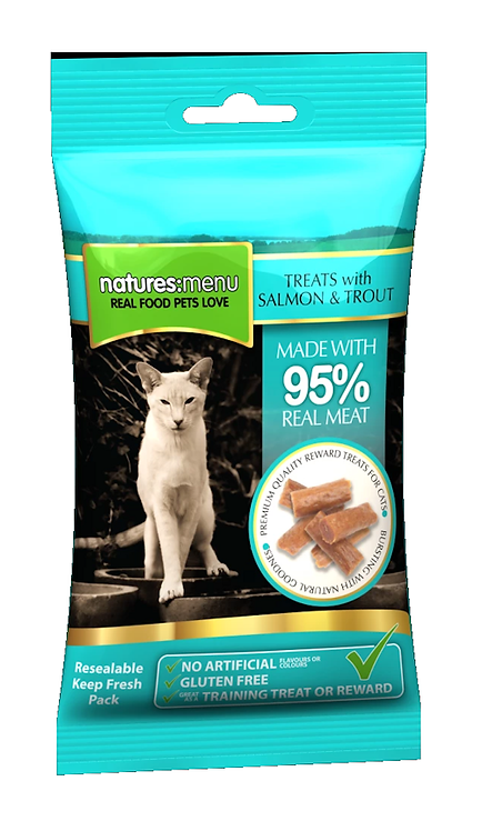 Natures Menu Cat Treats SALMON AND TROUT 60g