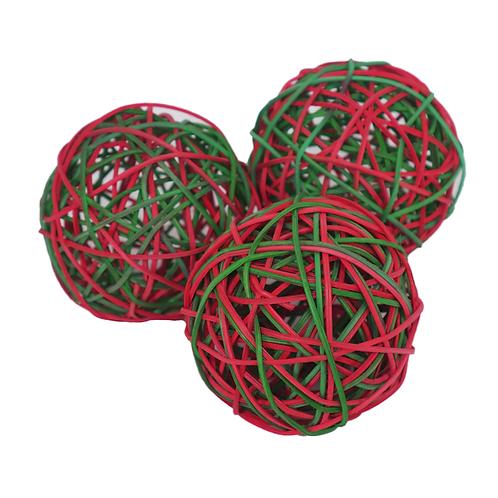 Festive Weave-a-Balls. pk 3