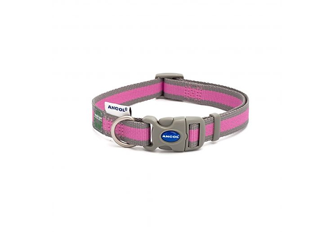 Made From Dog Collar Pink & Grey Stripe. Price from