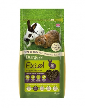 EXCEL ADULT RABBIT NUGGETS WITH MINT 2kg, 4kg price from