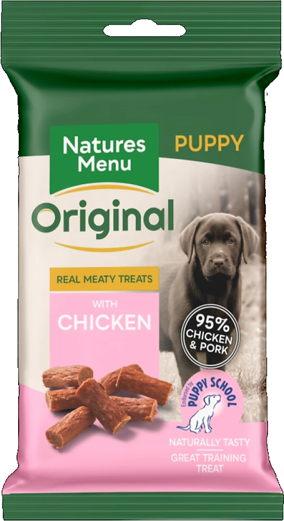 NATURES MENU PUPPY TREATS  CHICKEN & PORK 60g