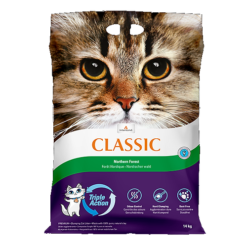 Intersand Classic Cat Litter Northers Forest Scent 14kg.