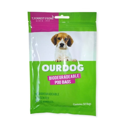 Biodegradable, Scented Dog Poo Bags with handles.