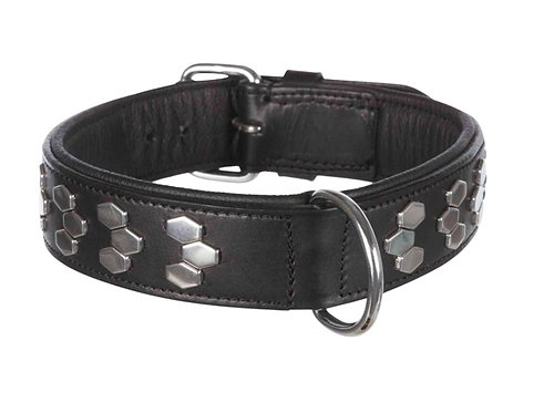 BLACK LEATHER STUDDED COLLAR. Price from