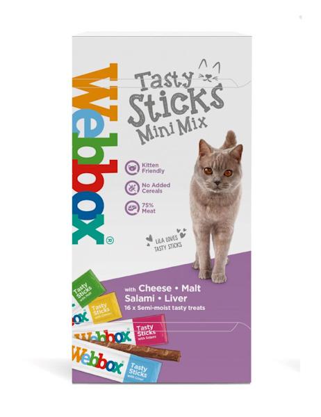 Webbox Cat's Delight Tasty Stick Mini Mix  Cat Treats 16 pk
