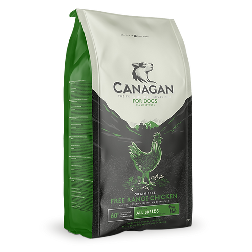 Canagan Free-Range Chicken all life stages 500g, 2kg, 6kg or 12kg. Price from