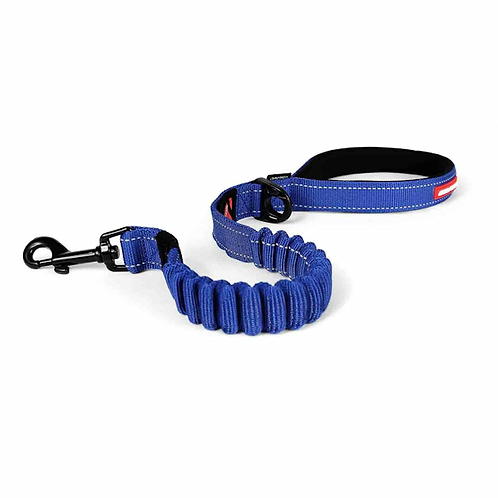 "EzyDog Zero Shock Lead 25"" Blue"