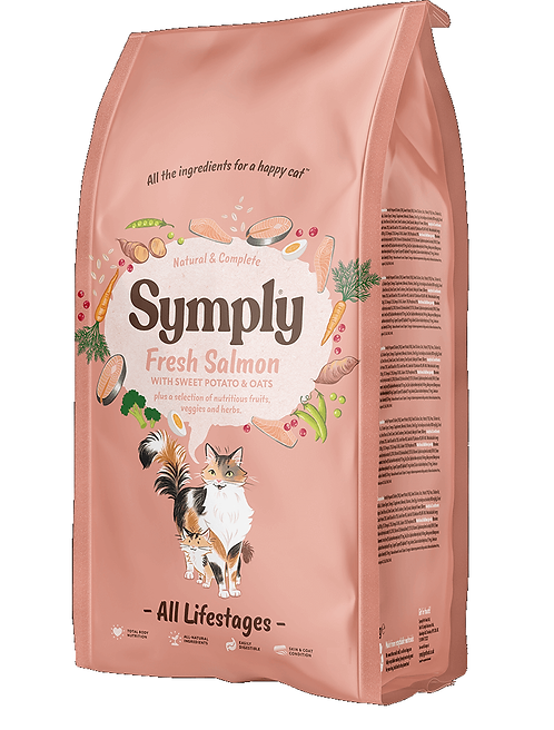 Symply Cat Food Salmon. 375g, 1.5kg, 4kg. Price from