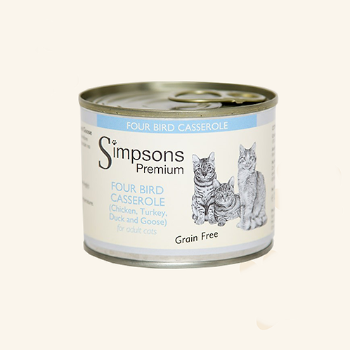 SIMPSON'S FOUR BIRD CASSEROLE FOR ADULT CATS  200g