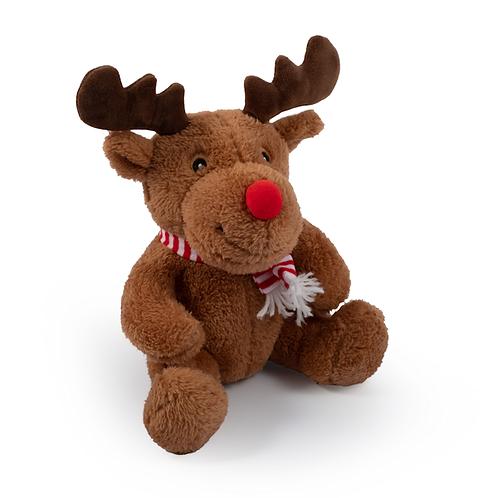 Cuddly Reindeer Toy With Squeak