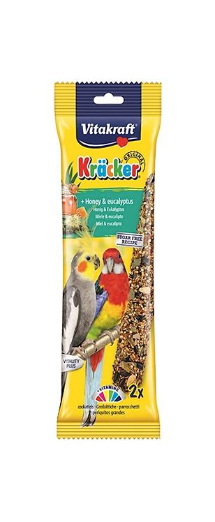 Vitakraft Cockatiel Kräcker Honey & Eucalyptus. Twin Pack