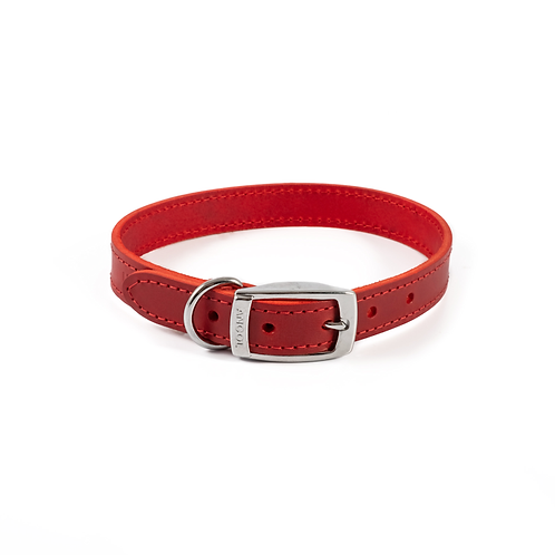 CLASSIC BRIDLE LEATHER COLLAR RED. Price from