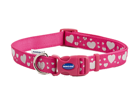 FASHION COLLAR PINK REFLECTIVE HEARTS. Price from