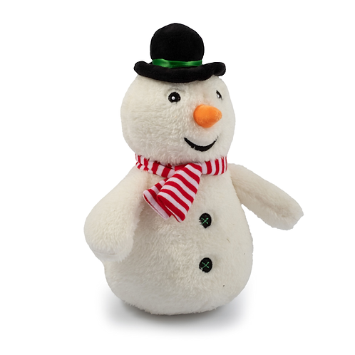 Cuddly Snowman Toy With Squeak