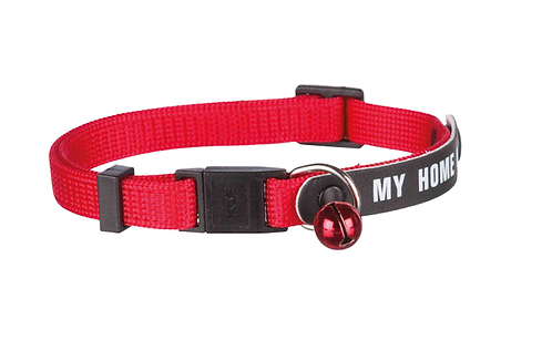 SAFETY CAT COLLAR with write on I.D.address flap