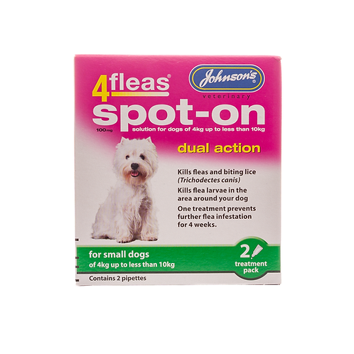 4fleas Spot-on for Small Dogs 4 - 10kg