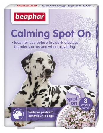 Calming Spot On for Dogs. 3 pk