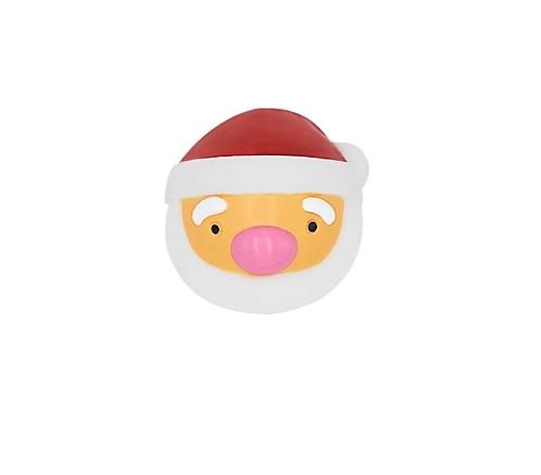 Squeaky Santa Faceball Toy