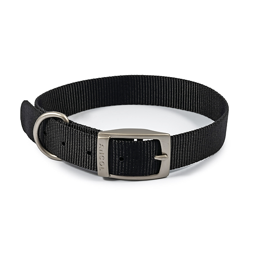 NYLON COLLAR BLACK.