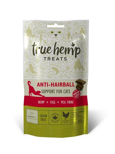 True Hemp Anti Hairball Treats for Cats 50g