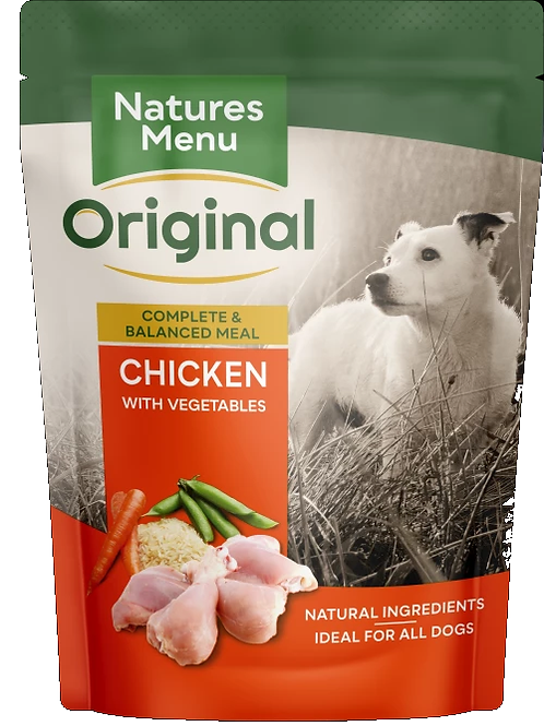 NATURES MENU DOG POUCHES CHICKEN  FOR ADULT DOGS 300g