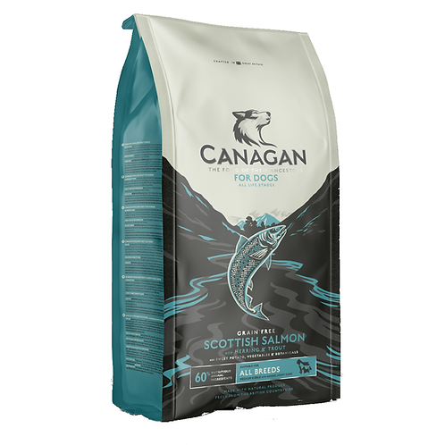 Canagan Scottish Salmon  for Dogs 2kg, 6kg, 12kg     Price from