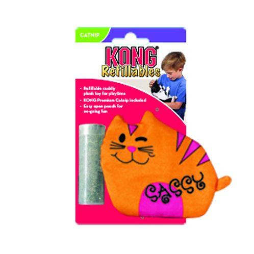 Kong Refillable Sassy Cat Crinkle Catnip Toy