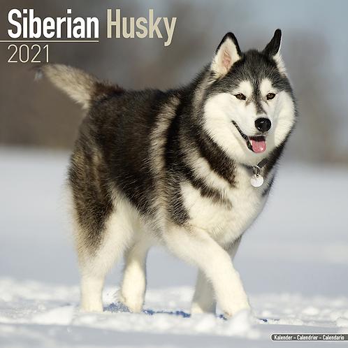 2021 Siberian Husky Calendar