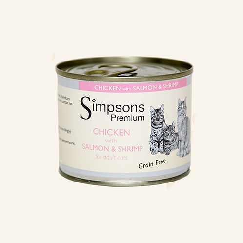 SIMPSON'S CHICKEN WITH SALMON & SHRIMP FOR ADULT CATS 200g