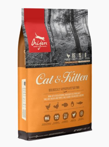 ORIJEN CAT & KITTEN FOR ALL LIFESTAGES 340g, 1.8kg, 5.4kg Price from