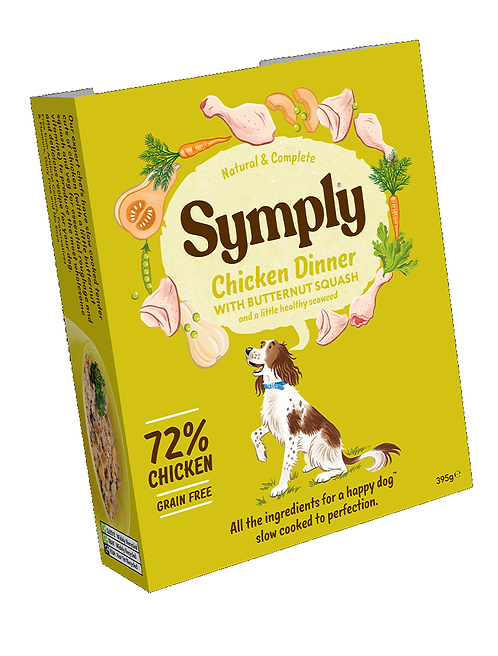 Symply Chicken Dinner Adult Dog Food 395g