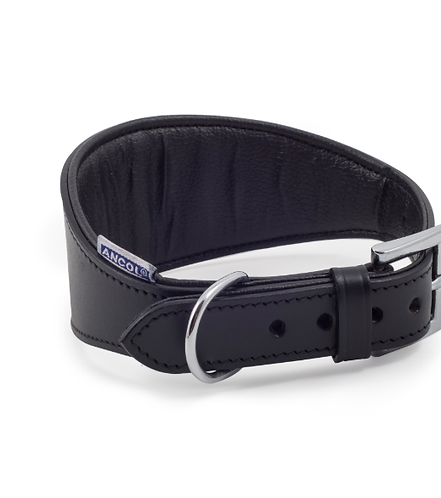 HOUND PADDED LEATHER COLLAR BLACK. Price from