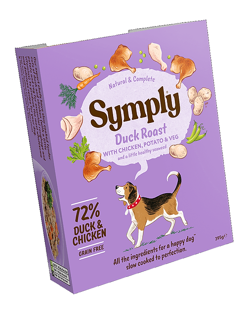 Symply Duck Roast Adult Dog Food 395g
