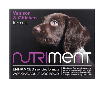 Nutriment Raw Food Venison & Chicken  500g