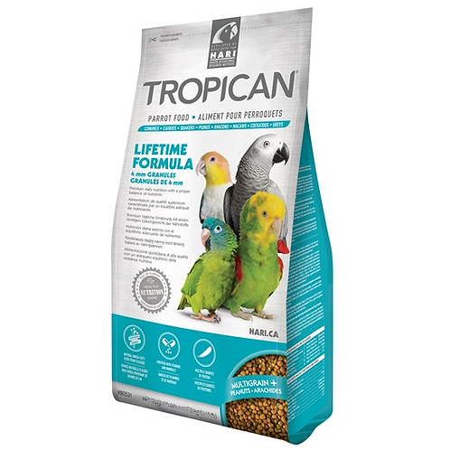 Tropican Parrot Lifetime Granules 4mm 820g