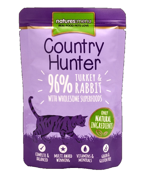 Country Hunter Cat Pouch Turkey & Rabbit For Adult Cats 85g